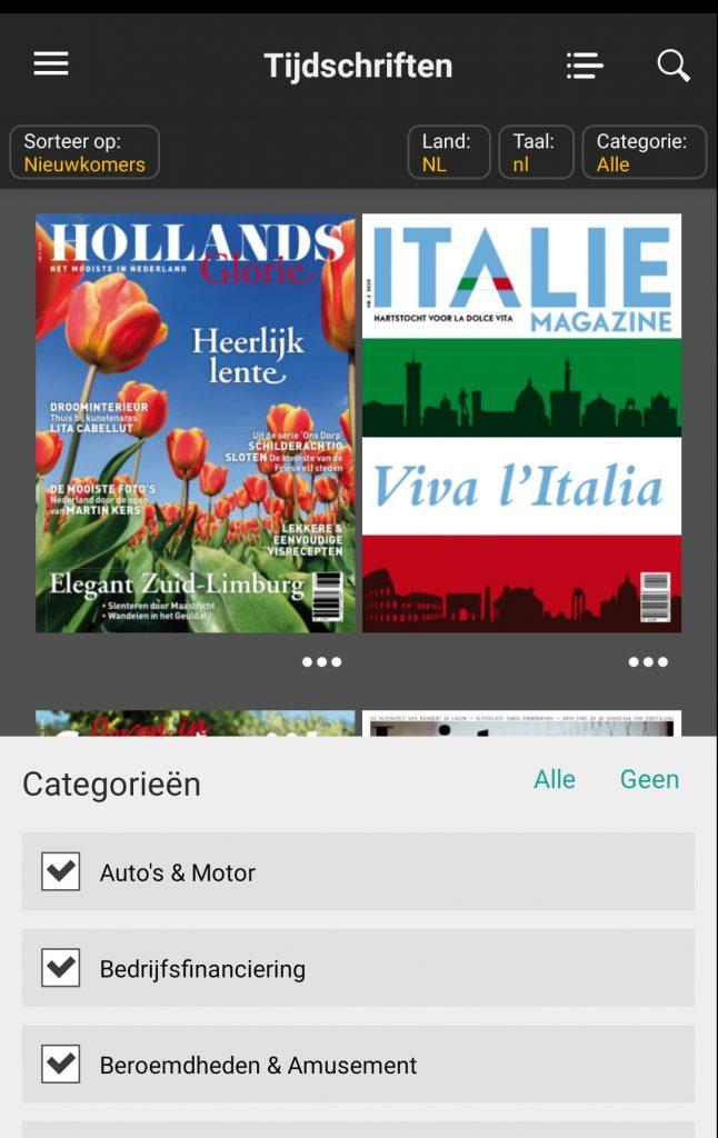 gratis lezen digitaal magazine categorie onderwerp Readly