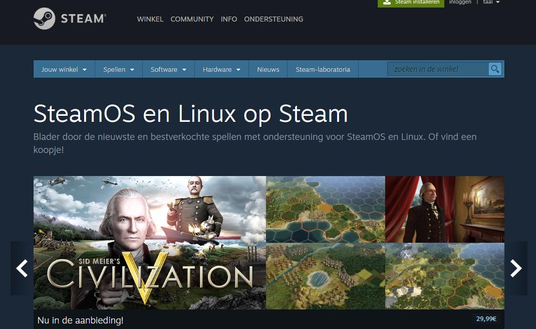 laptop kopen gamen Linux Steam