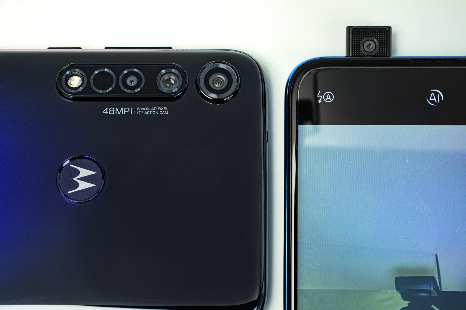 middenklasse smartphone prijs prestatie camera lenzen pop-up