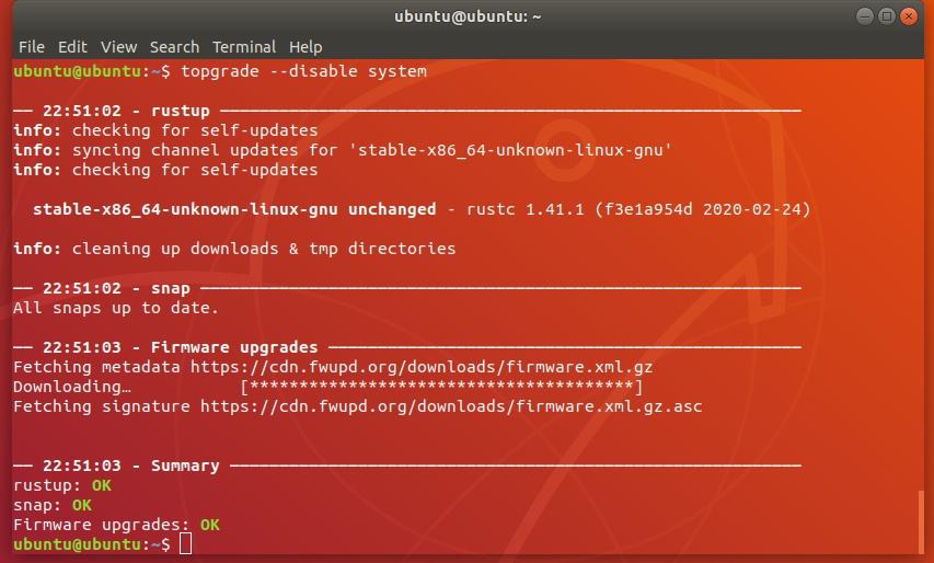 software updaten alles Linux pakketbeheer Topgrade