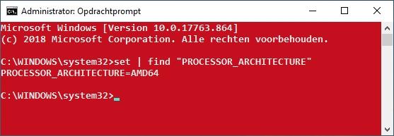 64-bit opdrachtprompt set