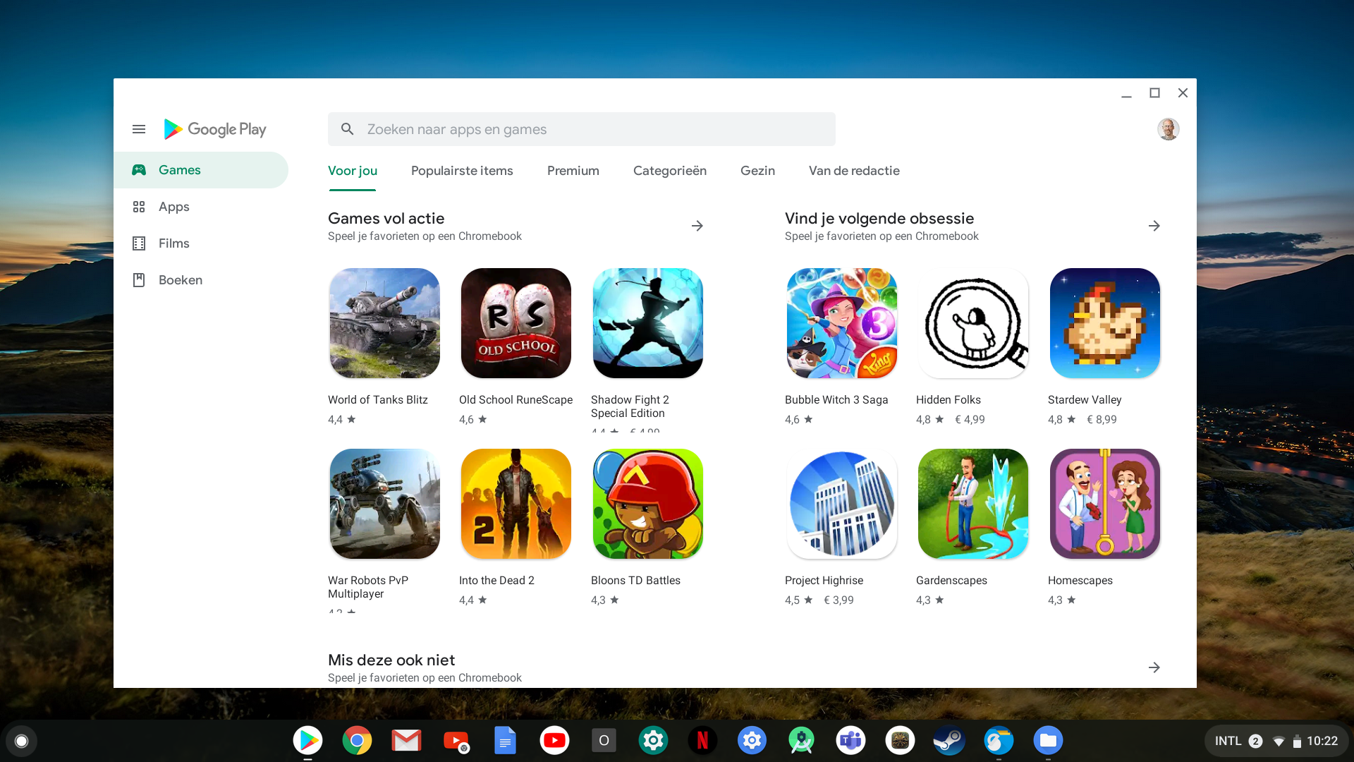 games Chromebook Android Play Store