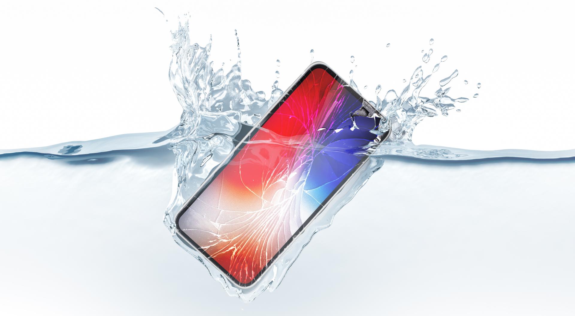 smartphone waterdicht IP-code test water stof