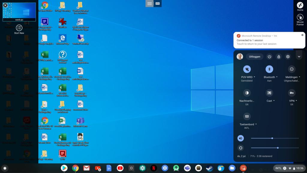 thuiswerken Chromebook RDP Windows Remote Desktop Microsoft