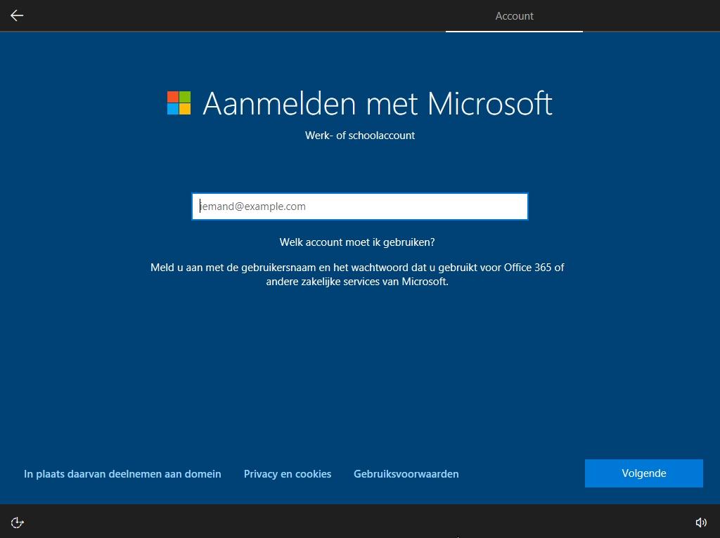 Windows 10 Pro zonder account deelnemen aan domein