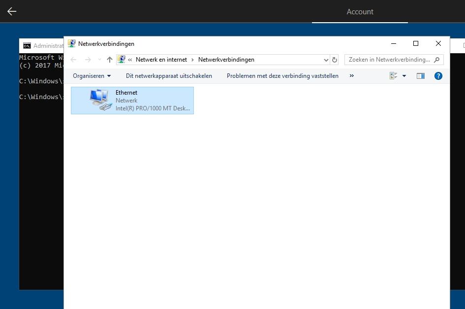 Windows 10 installatie netwerkverbinding wifi-verbinding verbreken