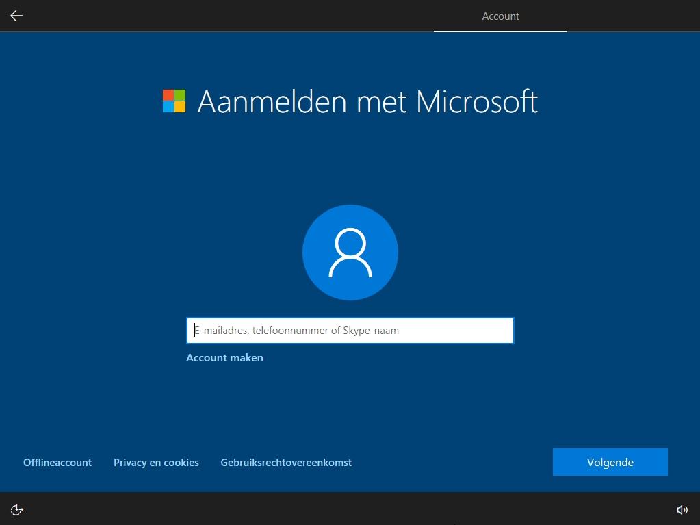 Windows 10 zonder account offlineaccount optie verdwenen