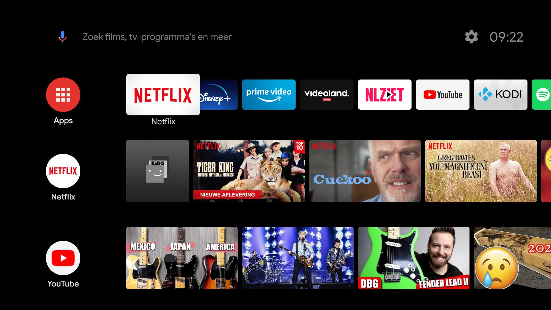 mediaspeler video streaming diensten Shield