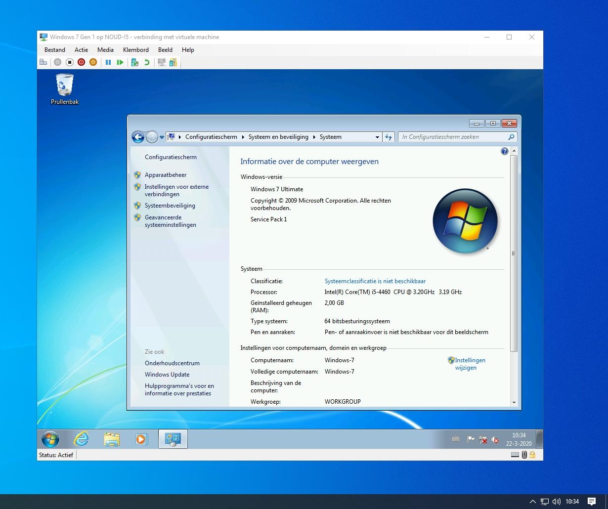 Windows 7 in een virtuele machine in Hyper-V