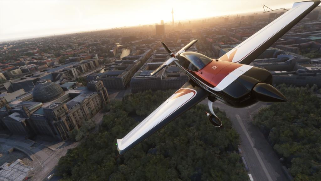 microsoft flight simulator 2020 vanaf buiten gezien
