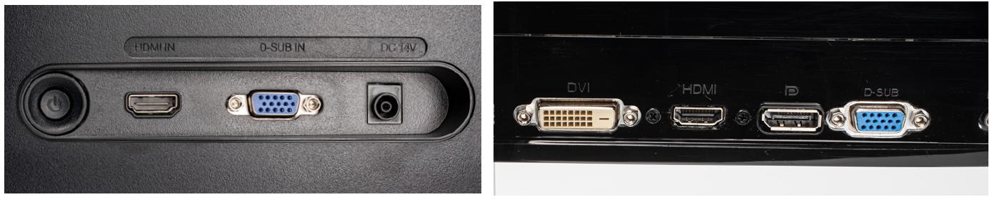 voordelige goedkope monitor aantal aansluitingen beperkt meerdere digitaal analoog