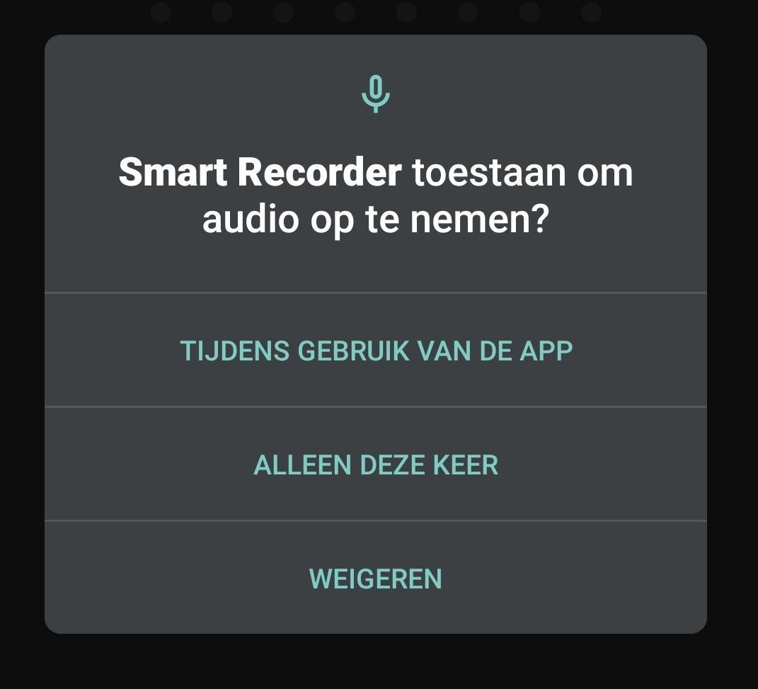 Android toestemming toestemmingen rechten toestaan weigeren tijdens gebruik
