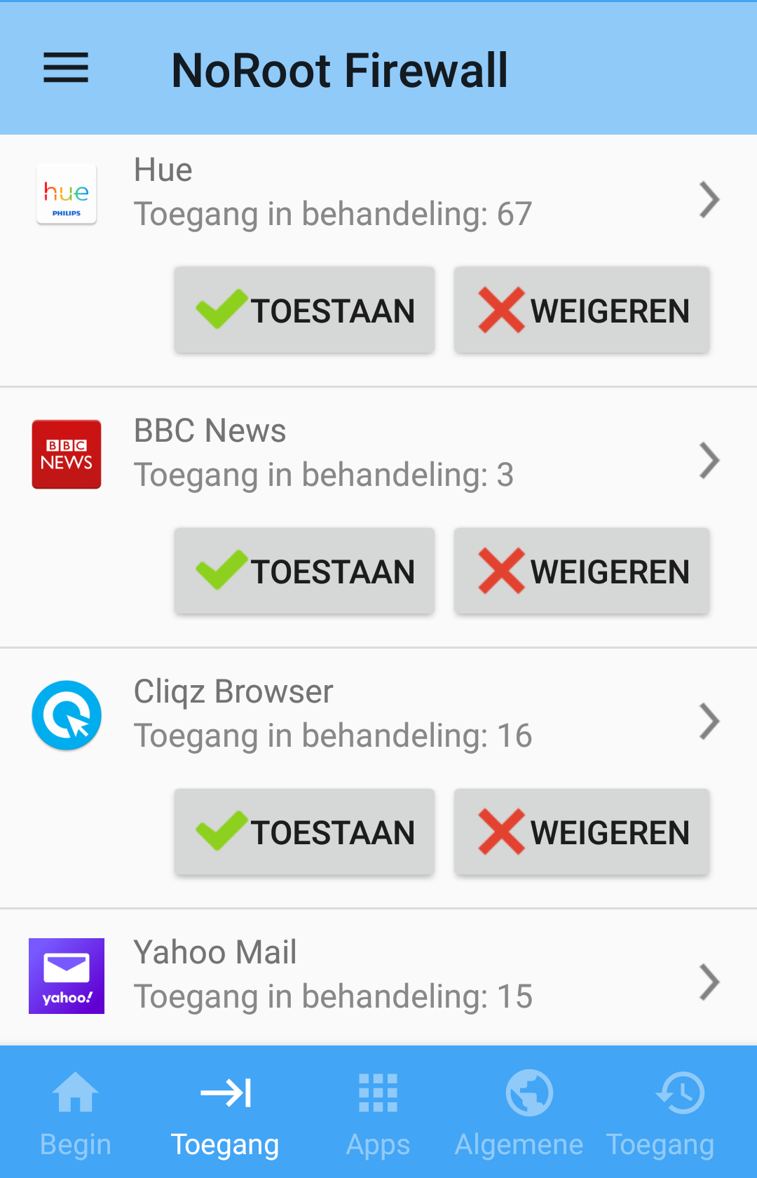 Android veiliger maken firewall NoRoot
