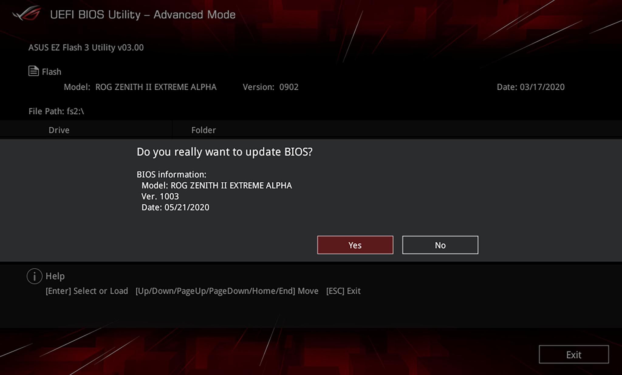 BIOS updaten Asus EZ Flash 3 UEFI