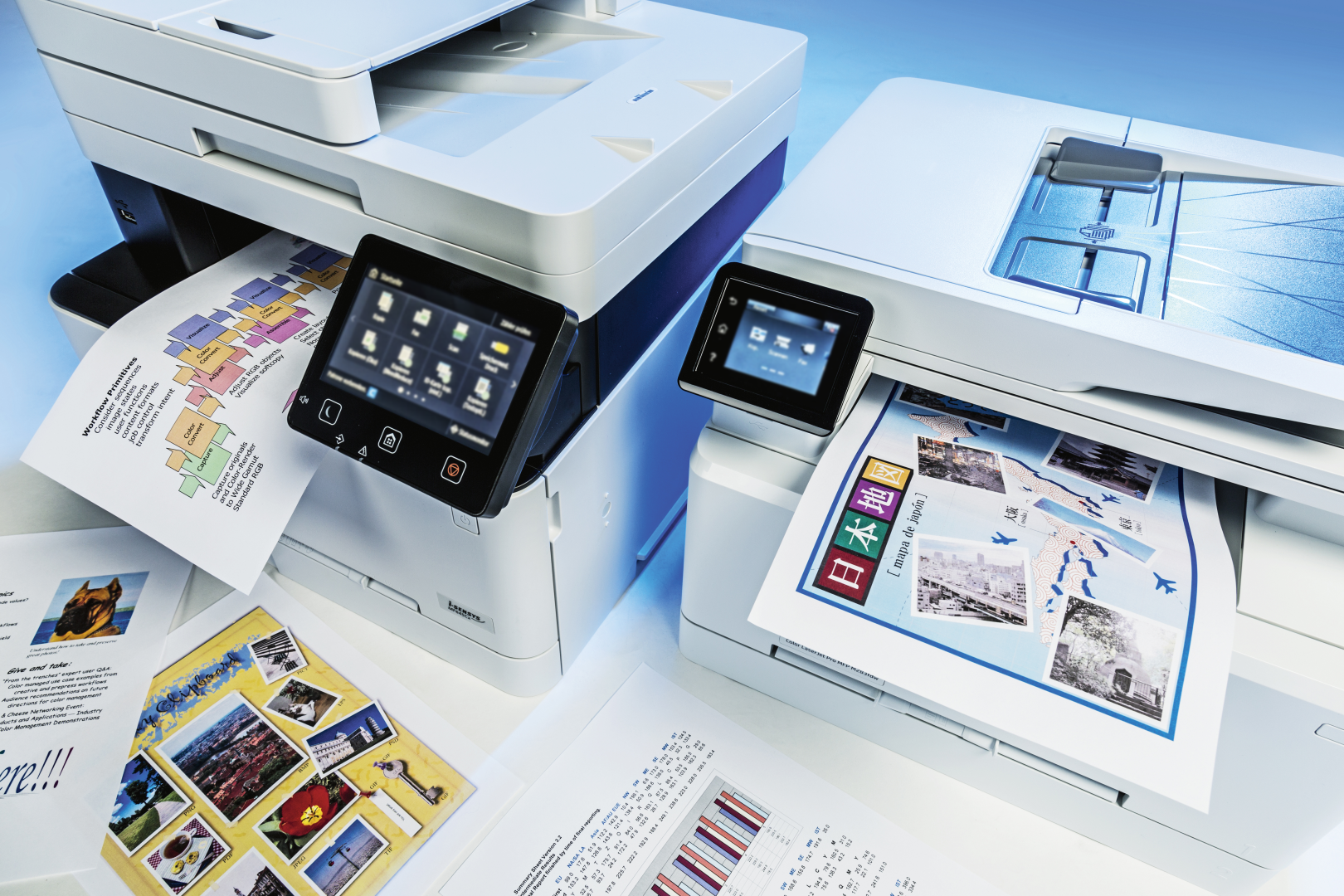 all-in-one printer kleurenlaser test review vergelijking HP Brother Canon Lexmark