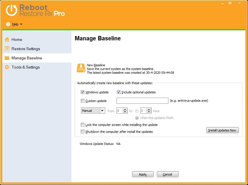 baseline voor Windows herstel