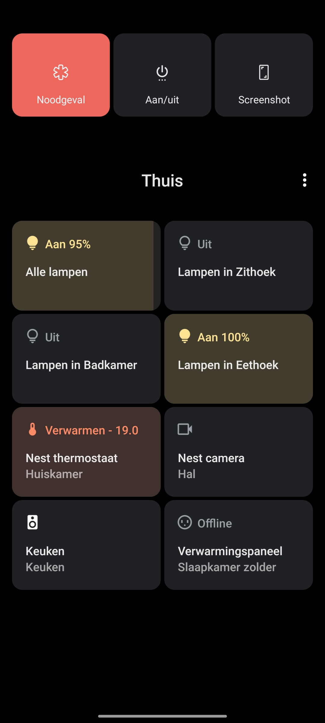 smarthome bediening Android 11