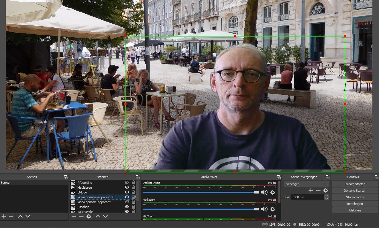 achtergrond transparant webcam OBS Studio