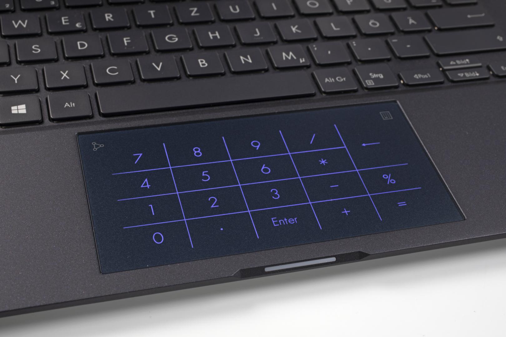 touchpad Asus laptop cijferblok numeriek toetsenblok