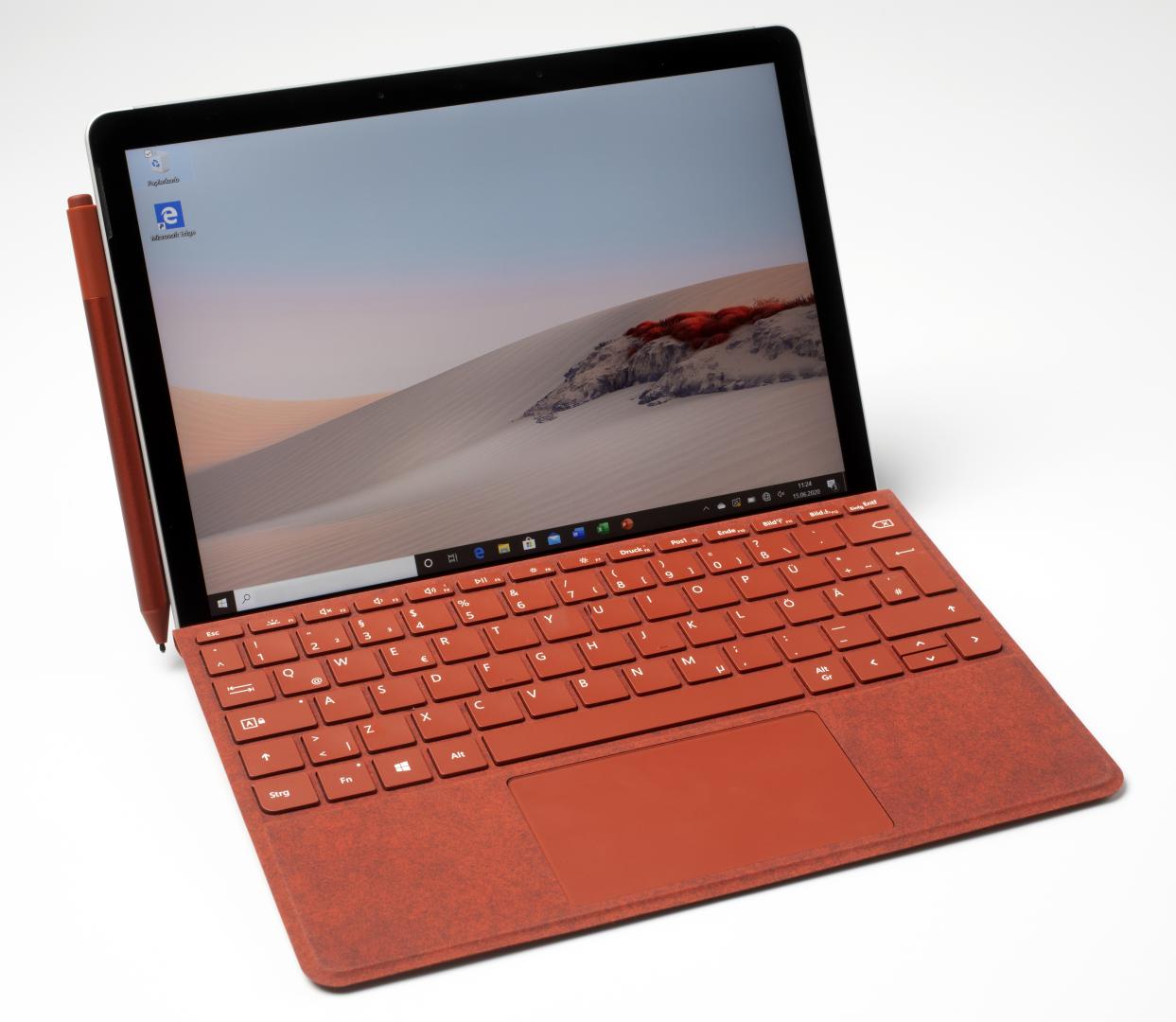 Surface Go met toetsenbord en pen