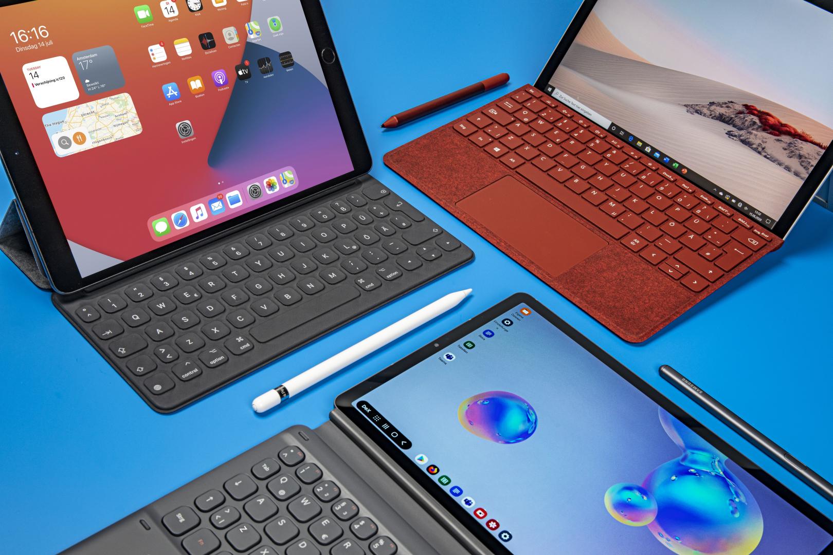 tablets vergelijken Apple iPad Air Microsoft Surface Go 2 Samsung Galaxy Tab S6