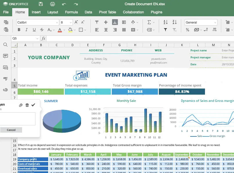OnlyOffice Excel