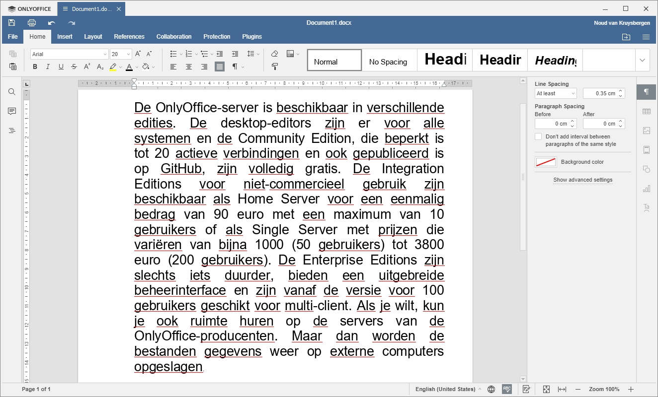 OnlyOffice Microsoft Office compatibel Word compatibiliteit DOC DOCX
