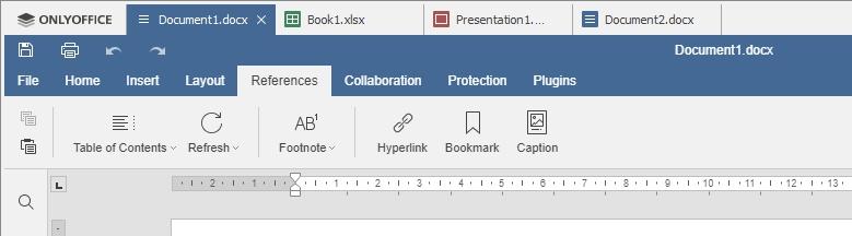 OnlyOffice tabbladen documenten