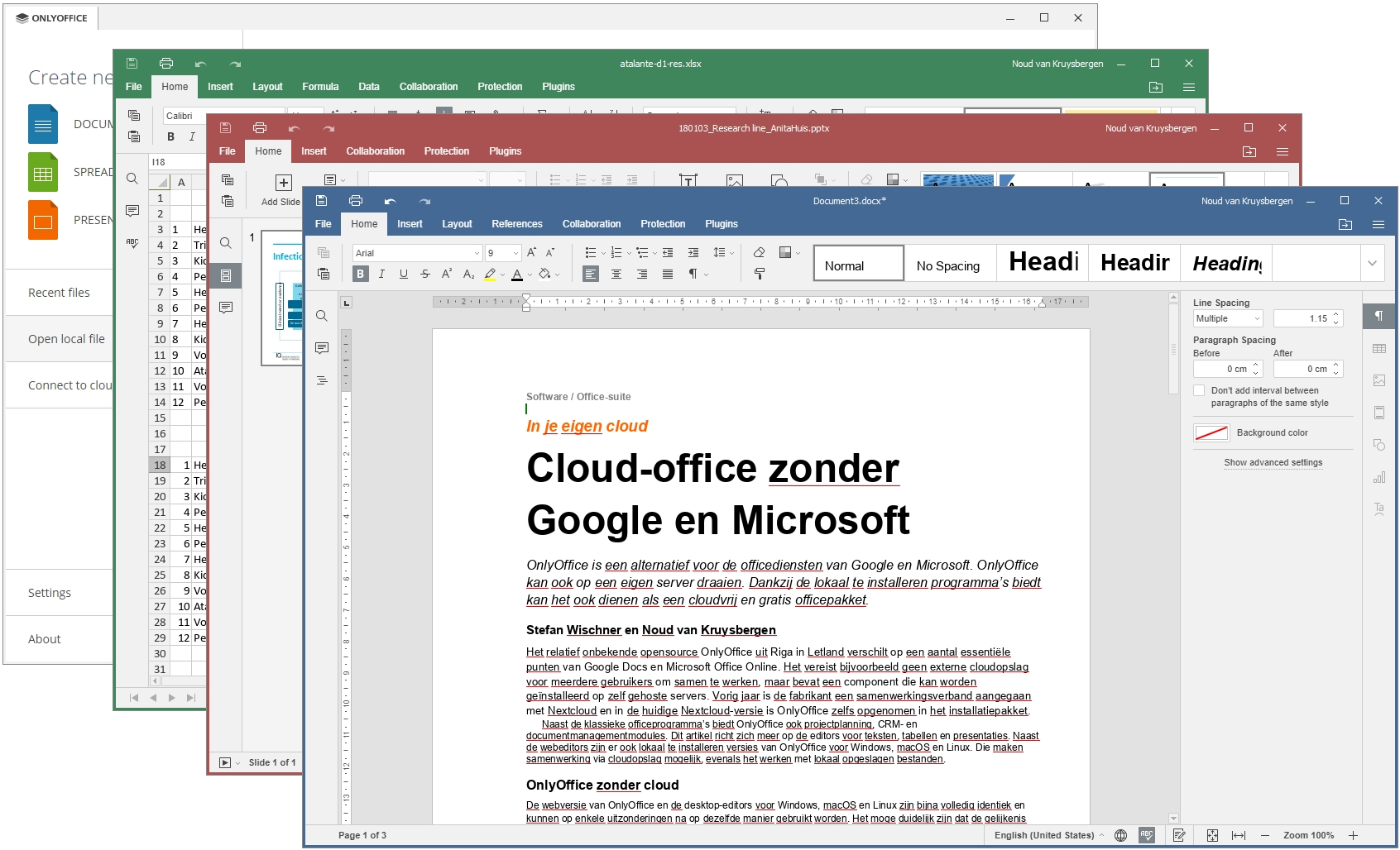 gratis Microsoft Office alternatief OnlyOffice