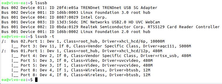 usb speed Linux