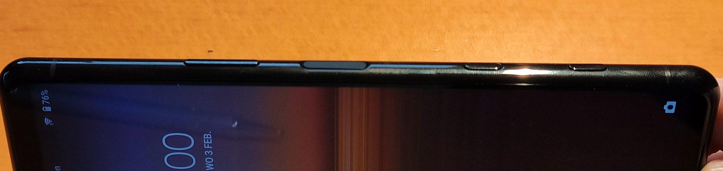 Xperia 5 II knoppen Google Assistent knop vingerafdrukscanner cameraknop