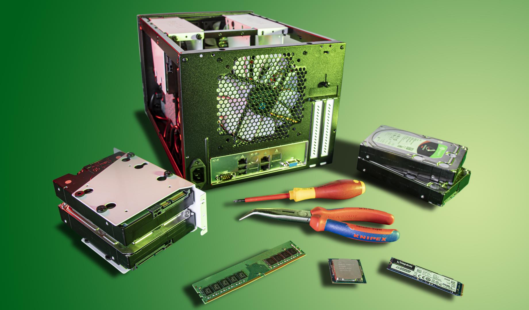 thuisserver bouwen opslagruimte ECC geheugen BCM IPMI