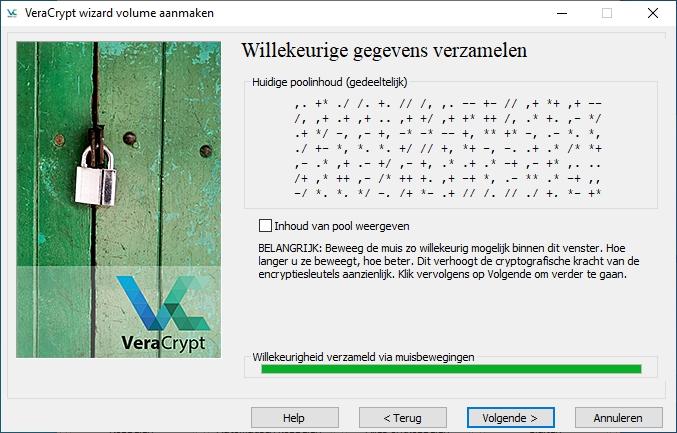 veracrypt versleutelen willekeurige gegevens