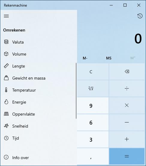 Rekenmachine Calculator Windows 10