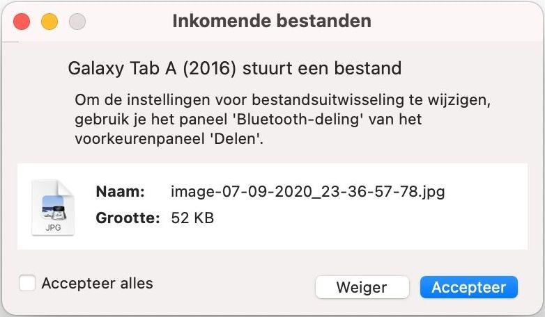 macos iOS bluetooth