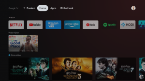Chromecast Google tv interface, streaming tv-sticks