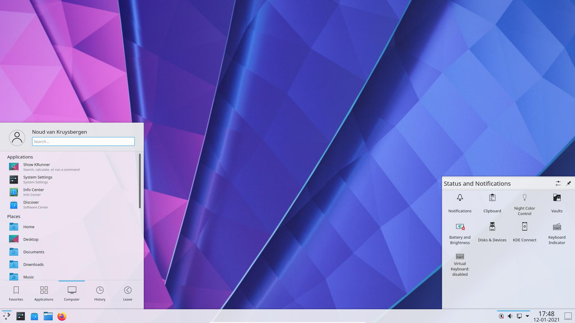 KDE Plasma interface review