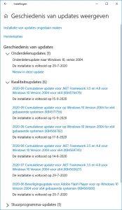 Windows updates geschiedenis