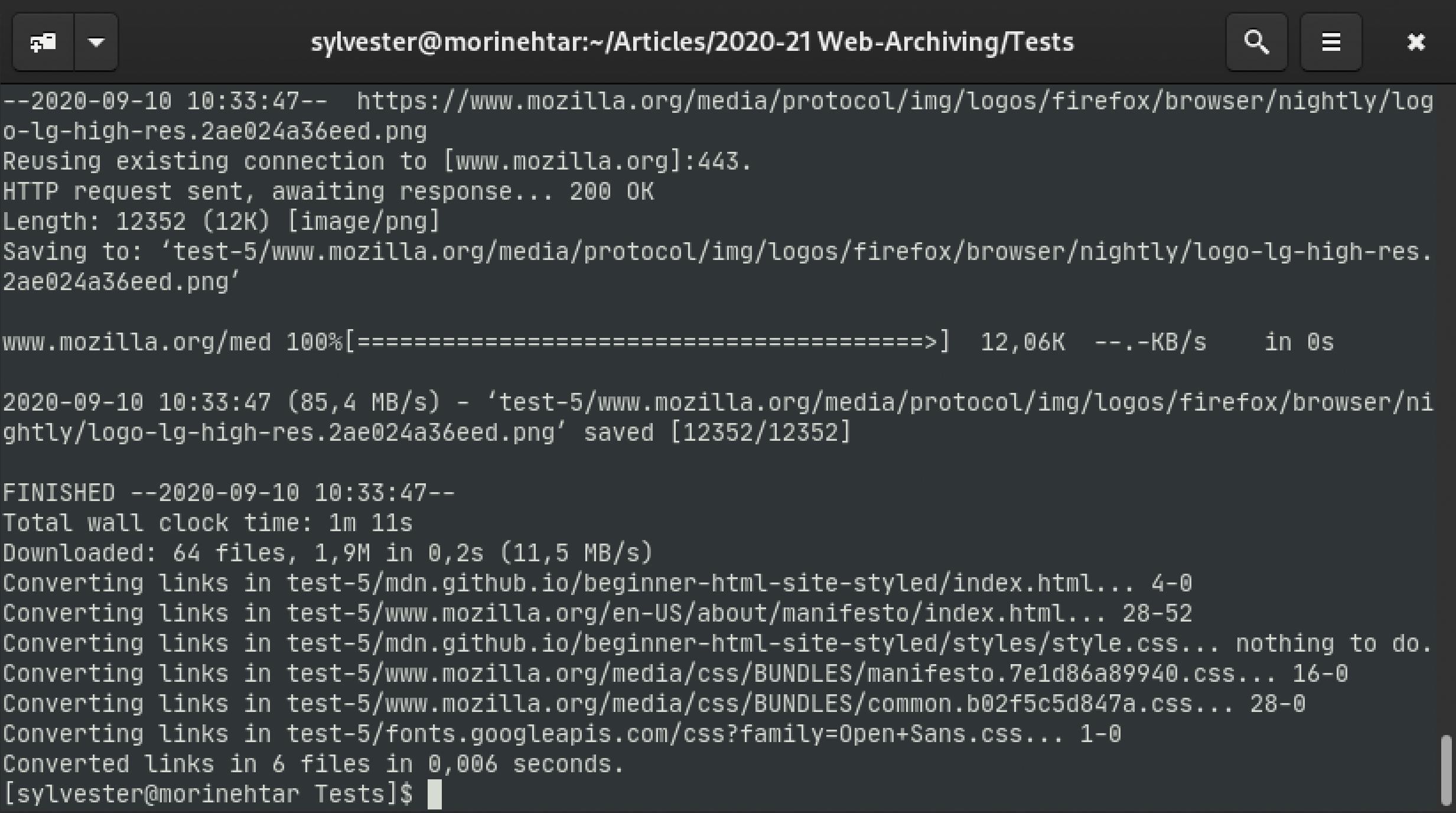 wget opties parameters webpagina downloaden