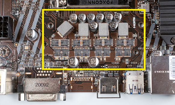 MSI B460M-A Pro converters zonder koeling