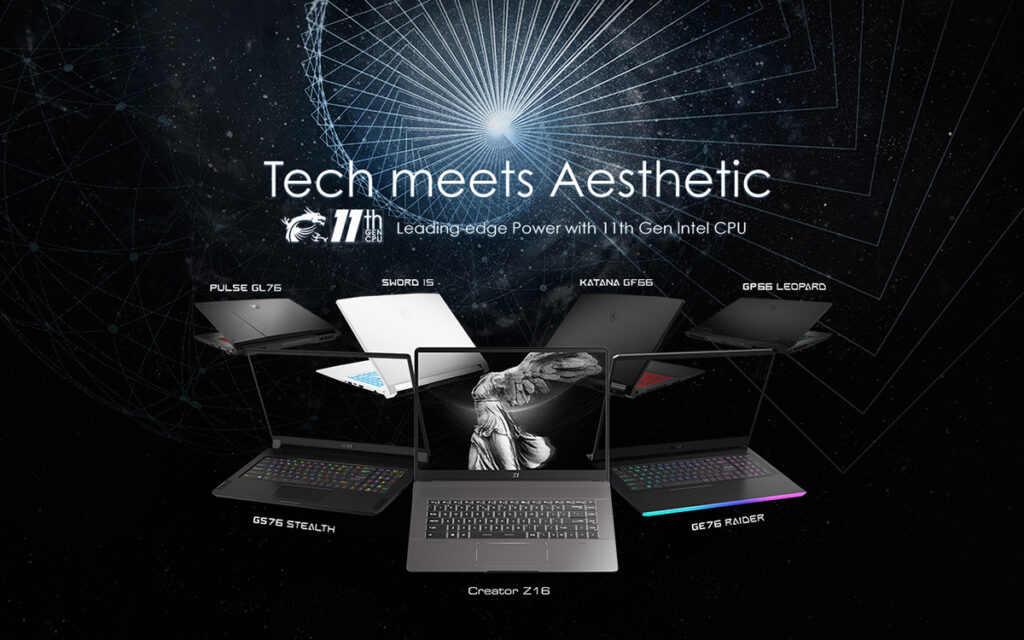 MSi tech meets aesthetic creator laptops gaming laptops