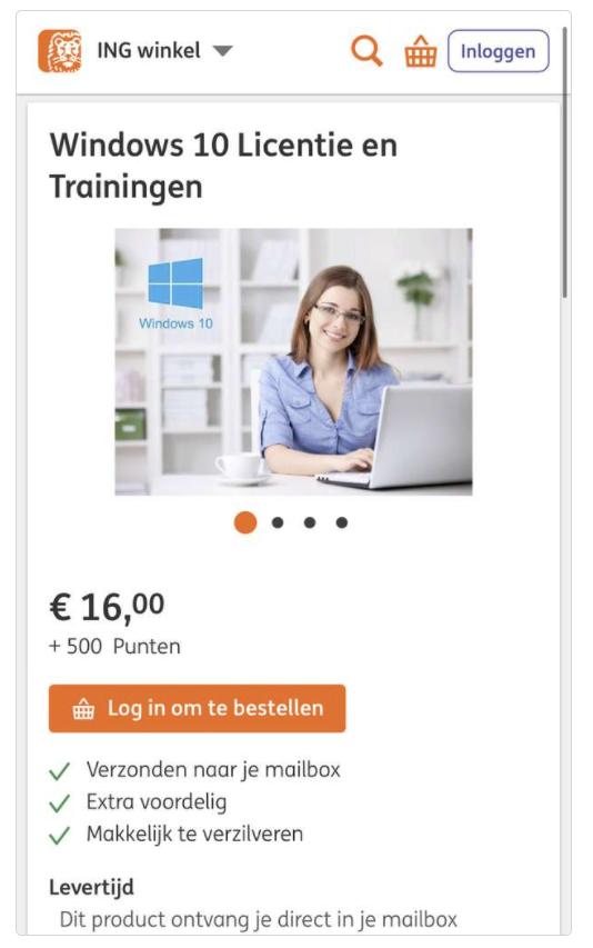 goedkoop Windows ING sleutel
