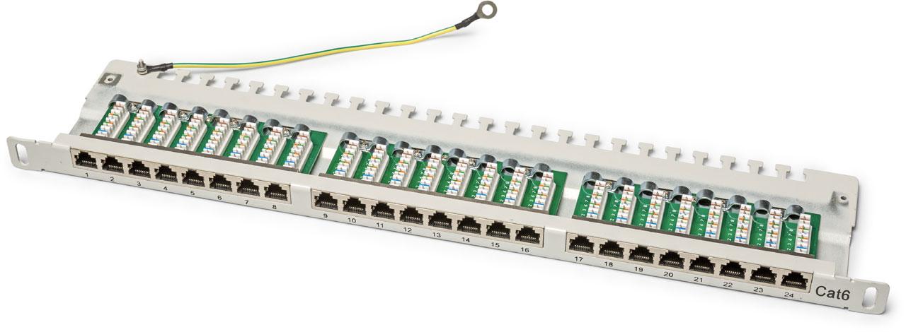 patchpanel 19 inch netwerk bekabeling aanleggen