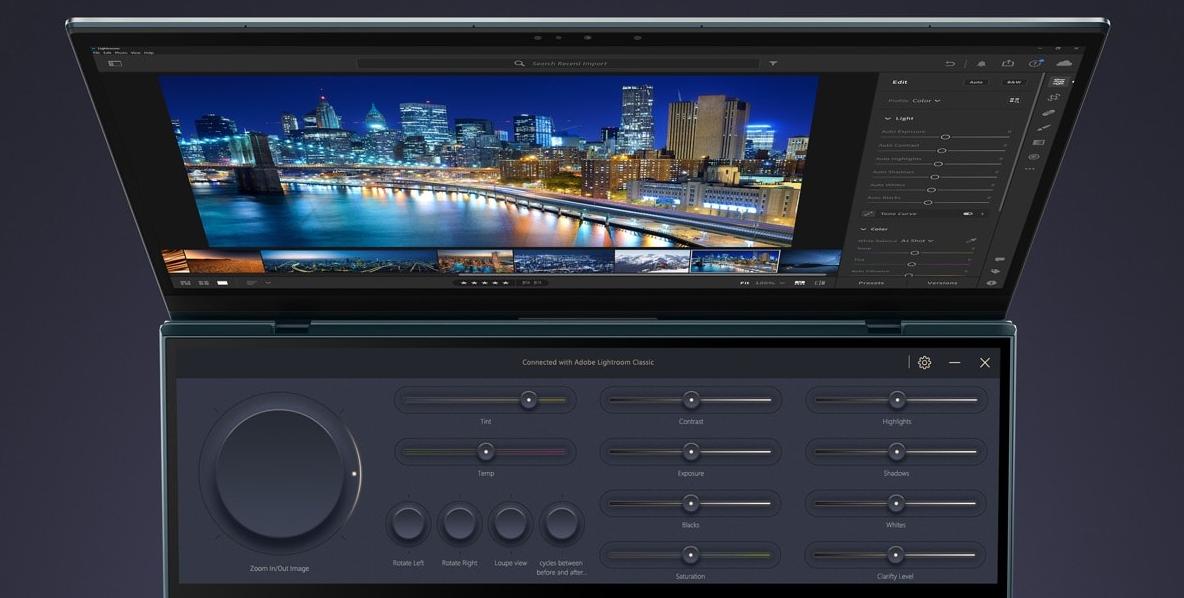 Control Panel in Adobe Lightroom Classic