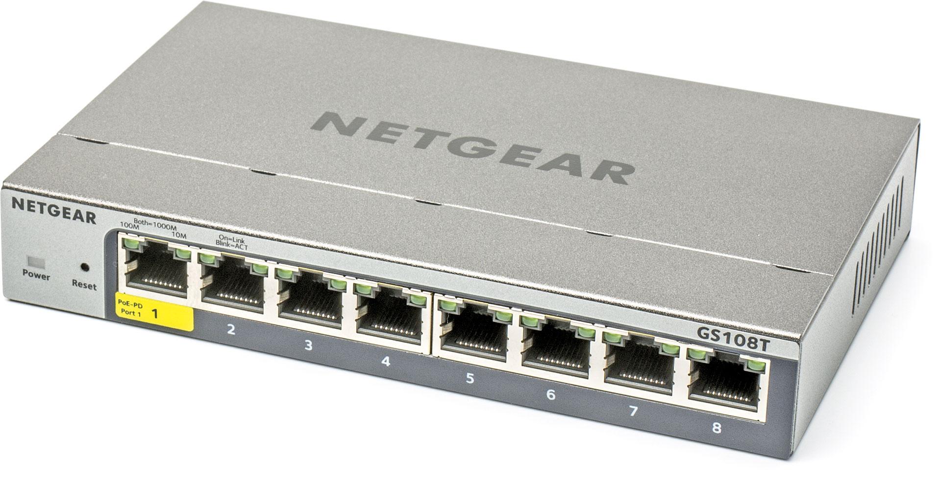 goedkope gigabit switch Netgear GS108T