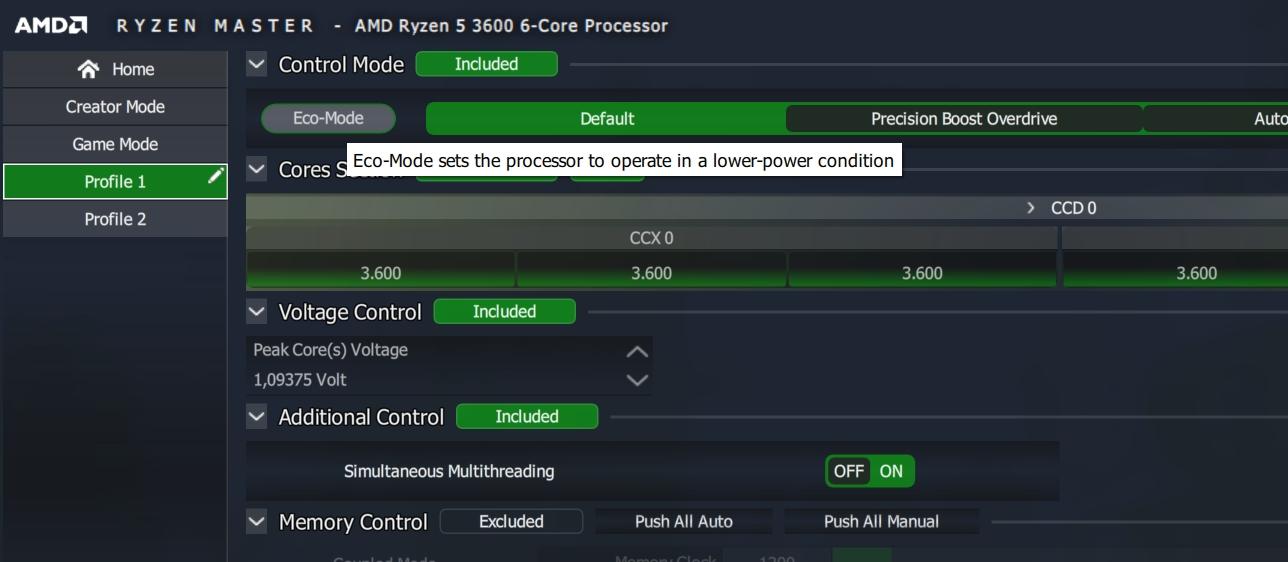 BIOS-set-up computerkoeling stiller Ryzen