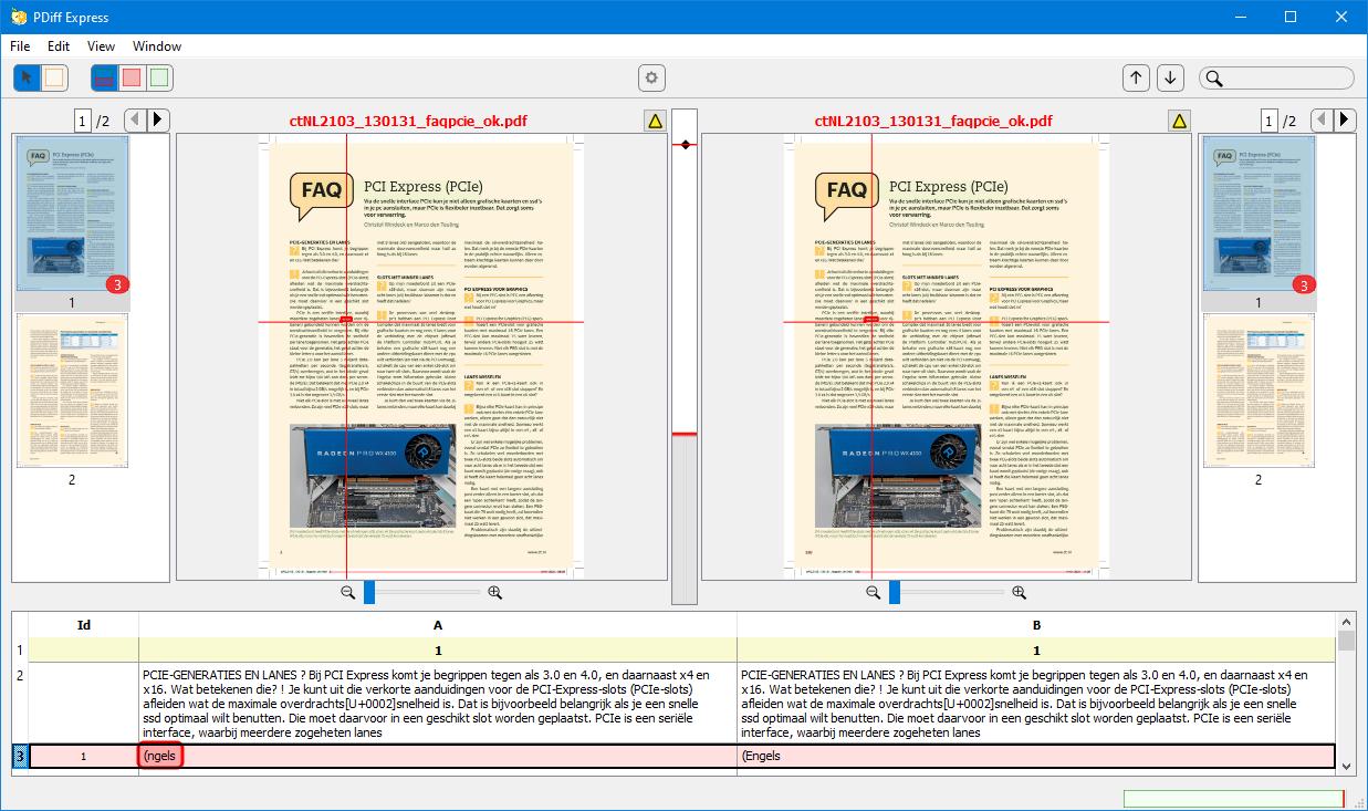 PDiff Express vergelijk twee pdf's
