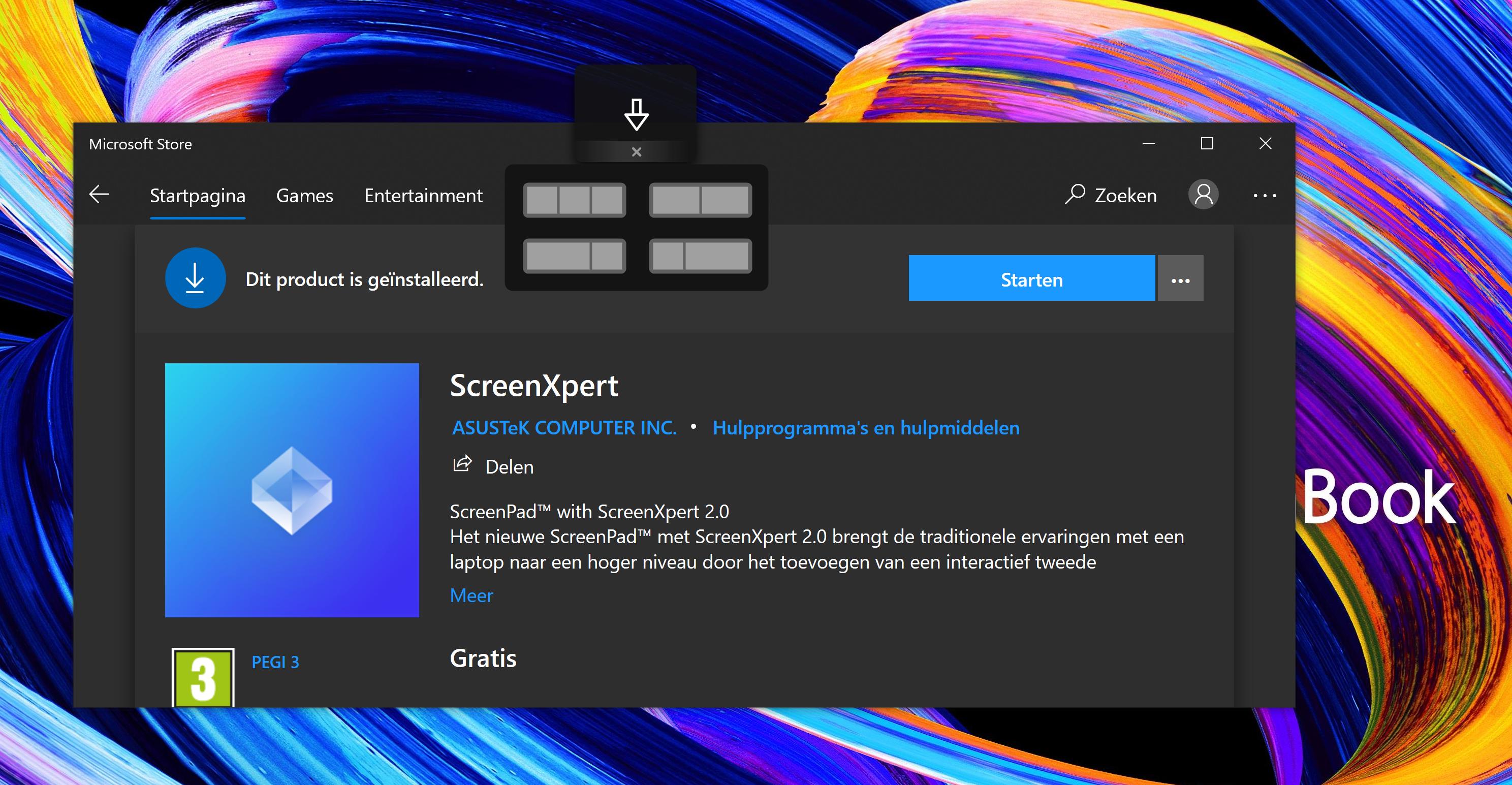screen xpert Asus venster slepen