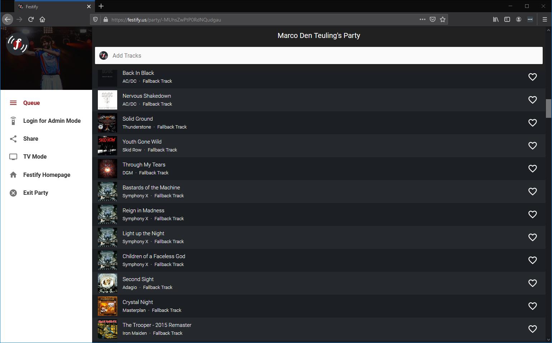 Spotify party playlist afspeellijst feest Festify
