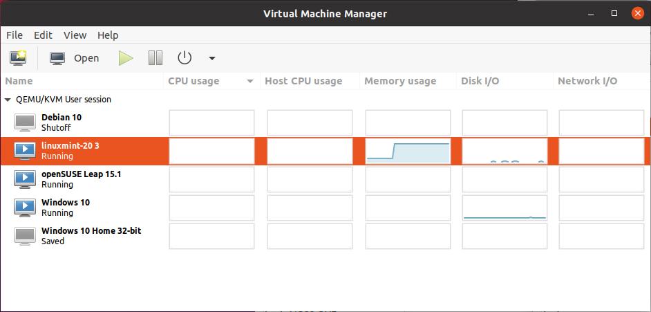Virt-manager gedetailleerde informatie virtualisatie